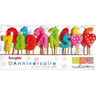 15 bougies d'anniversaire 1-2-3 ans