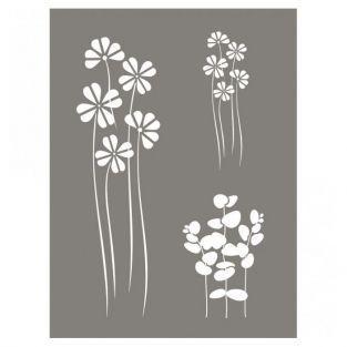 Pochoir Mix de fleurs 15 x 20 cm