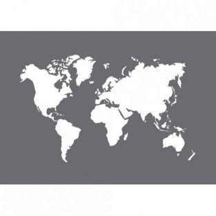 Pochoir carte du Monde A5 + spatule