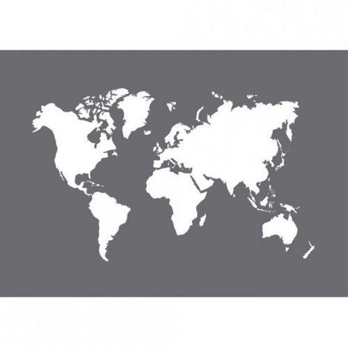 pochoir carte du monde Pochoir en plastique carte du Monde A5 + spatule