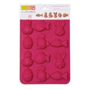 Molde chocolates de Pascua en silicona