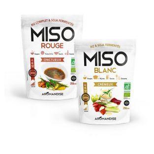 Miso blanc 250 g et Miso rouge 250 g
