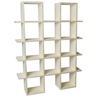 Wooden wall shelf 4 levels to customize - 71 x 53 x 12 cm