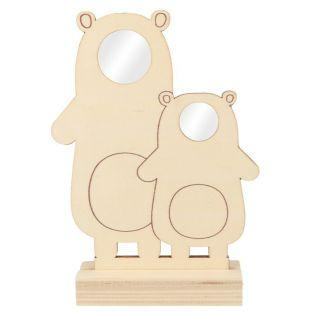 Wood picture frame 20 x 14 - 2 bears