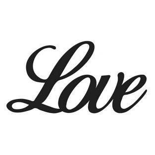 Thinlits cutting dies 7,5 x 4 cm - Love