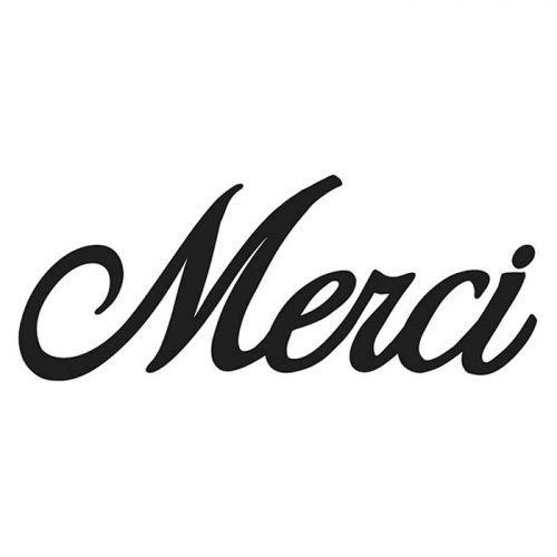 Thinlits cutting dies 8 x 3.5 cm - Merci (in French)