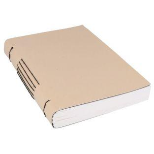 Notebook 80 pages 15 x 20 cm 160 g/ m² - Beige leatherette cover
