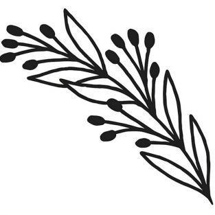 Matrice de découpe Branche 8 x 3,6 cm