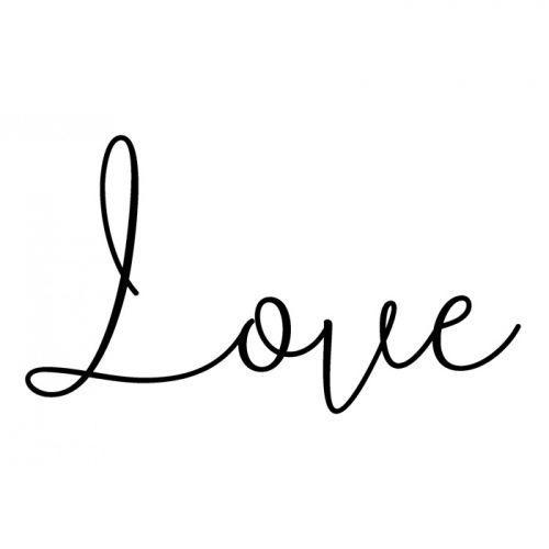 Tampon bois Love 3,7 x 5,3 cm