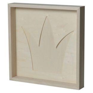 Wooden decorative frame 30 x 30 cm - Crown