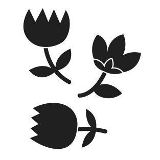 Matrice de découpe 3 fleurs