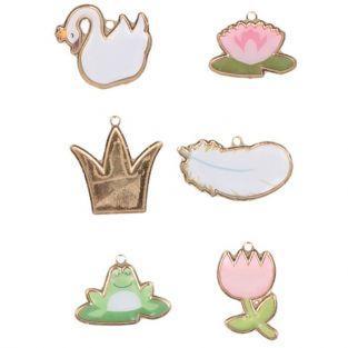 Amuletos de metal y epoxi - Cisne