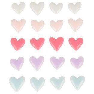 20 stickers en émail - Cœurs