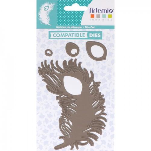 Thinlits cutting dies 12 x 9 cm - Peacock feather