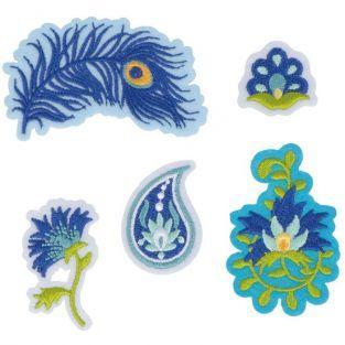 Hot Fix fusible textile patches - Peacock