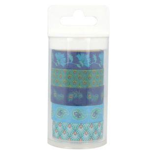 5 blue masking tapes 5 m - Peacock