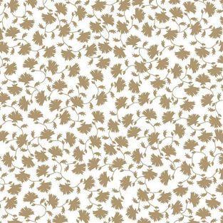 Papier calque japonais 90 g/ m² - 30 x 30 cm - Fleurs du Japon dorées