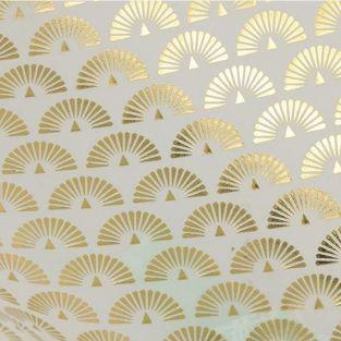Japanese tracing paper 90 g/ m² - 30 x 30 cm - Golden peacocks