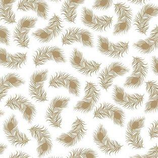 Japanese tracing paper 90 g/ m² - 30 x 30 cm - Golden feathers
