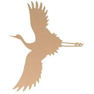 Silueta de madera MDF 25 cm - Grulla volando