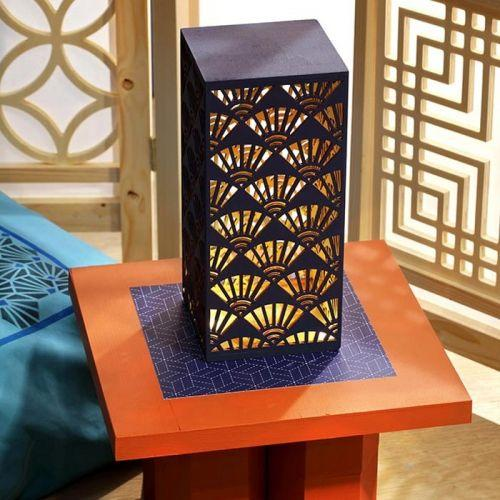 Japanese style wooden lamp to customize 26 x 12 cm