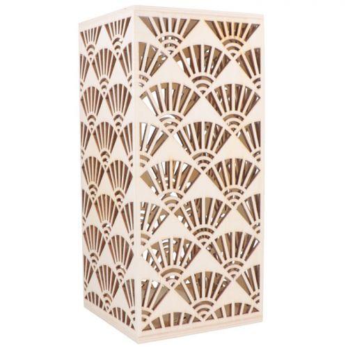 Lampe en bois style Japon à customiser 26 x 12 cm