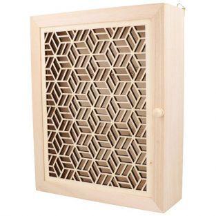 Boîte à clés murale en bois à customiser 25 x 20 cm