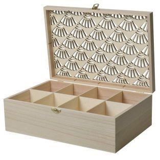 Boîte à bijoux en bois à customiser 30 x 20 x 10 cm