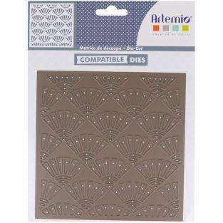 Thinlits cutting die - Sashiko Japanese fans
