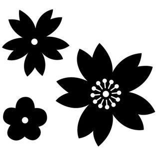 Troqueles de corte x 3 - Flores de Japón