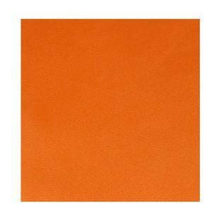 Feuille simili cuir 350 g/ m² - 30 x 30 cm - Orange