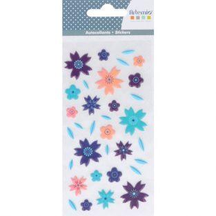 Stickers 3D puffies - Fleurs
