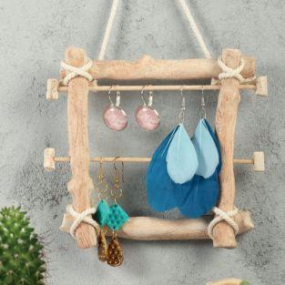 FIMO jewelery modeling box in driftwood box