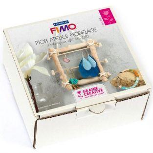 Set modelado FIMO joyería de madera