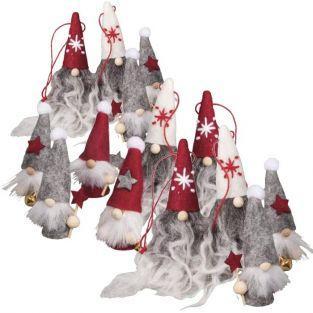 20 mini felt elves 6,5 cm
