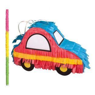 Piñata voiture à fabriquer 26 x 8 x 18 cm + bâton