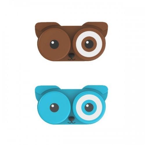 Boîte à lentilles de contact Chien
