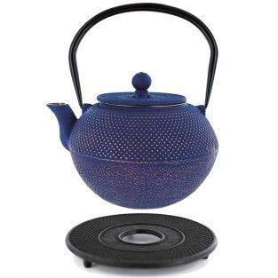 Théière en fonte chinoise Song 1,2 litre & sous-théière noire