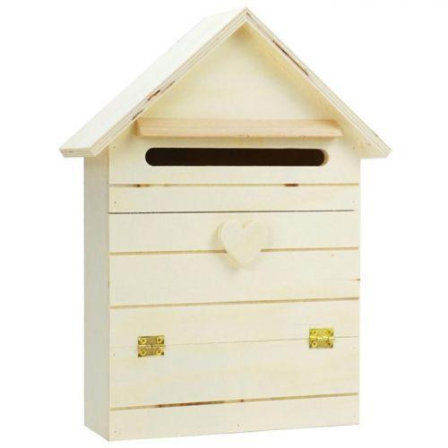 Boîte aux lettres en bois à customiser 22 x 29 cm