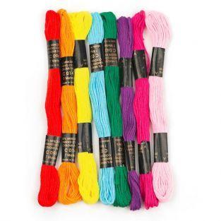 8 échevettes de fils en polyester 7 m - Mexicain