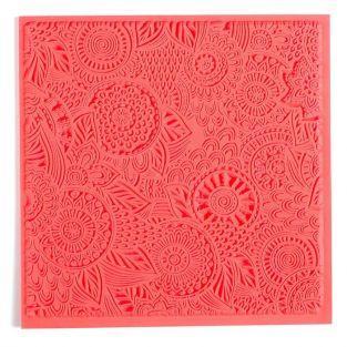 Hoja de textura para arcilla polimérica - Floral