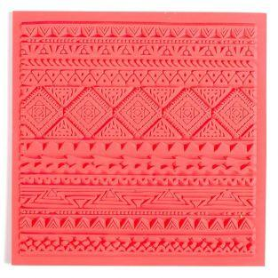 Hoja de textura para arcilla polimérica - Etnico