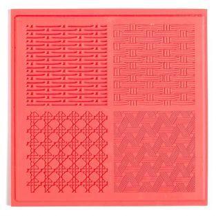 Tapis de texture pour FIMO - Vannerie