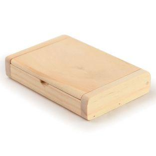 Porte-cartes de visites en bois 10,5 x 7 cm
