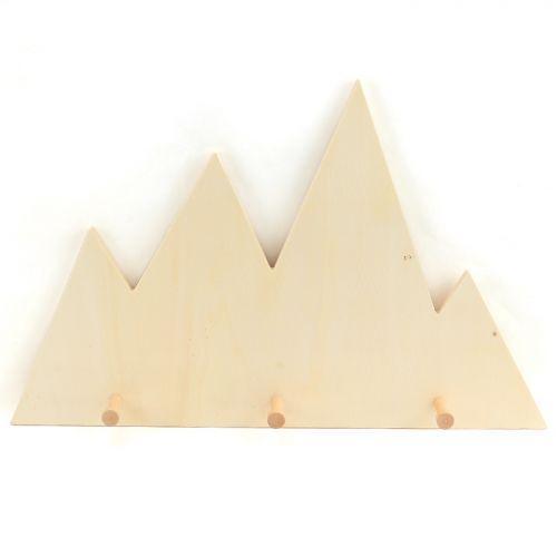 Patères en bois Montagne 45 x 28,5 cm