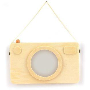 Wooden picture frame - Polaroid camera 20 x 12 cm
