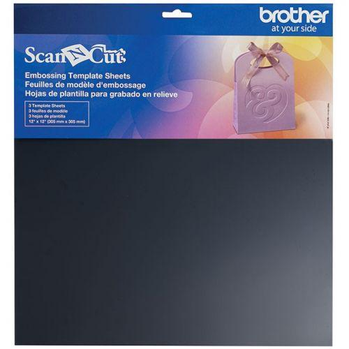 3 ScanNCut Embossing Template Sheets 30.5 x 30.5 cm