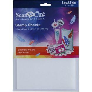 3 ScanNCut Silicone stamp sheets 15 x 20 cm