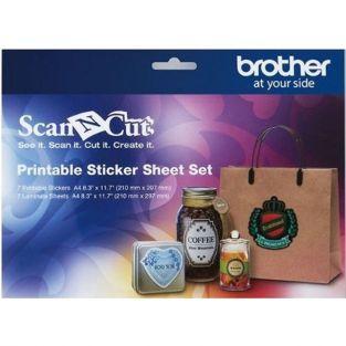 14 hojas adhesivas imprimibles y laminadas para ScanNCut