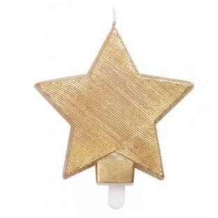 Bougie étoile dorée